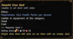 Powerful Onyx Skull