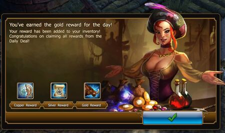 Daily Deal Gold reward