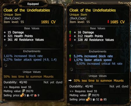 New Cloak of Undefeatables