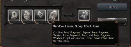 Random Lesser Group Effect Rune
