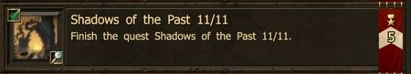 Shadows of the Past 11-11 end Achievement