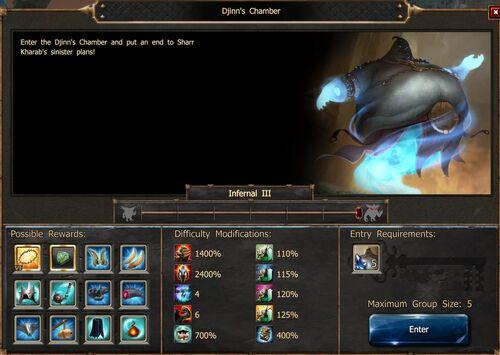 Djinn's Chamber Screen Infernal III