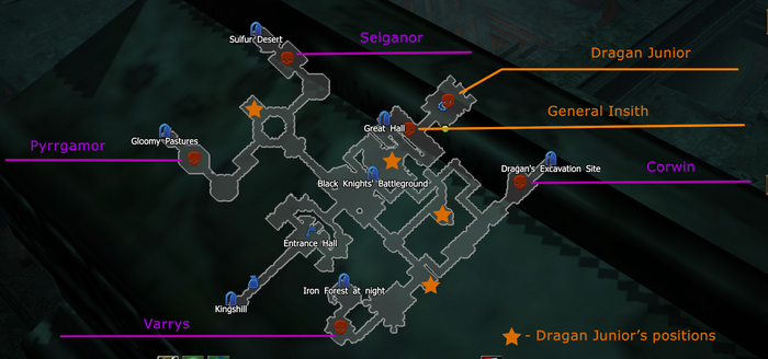 Castle Ravencaw CoT V miniboss map