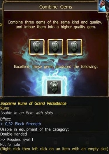 Supreme Rune of Grand Persistence craft
