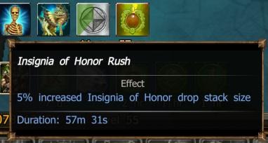 Insignia of Honor Rush (DtU progress buff)   Drakensang
