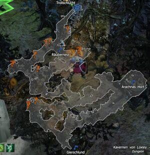 Map - Kavernen von Loxley