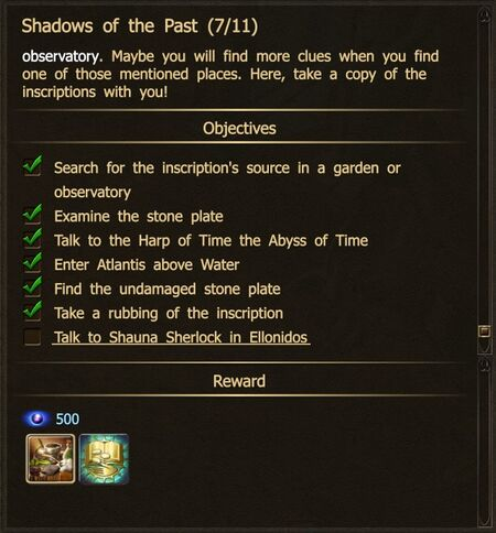 Shadows of the Past 7-11 Undamaged Stone Plate N