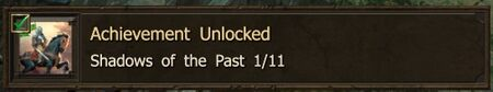 Shadows of the Past 1-11 end achievement