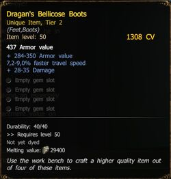 Dragan's Bellicose Boots T2 SW