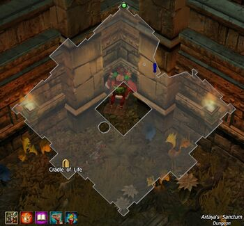 Artaya's Sanctum map