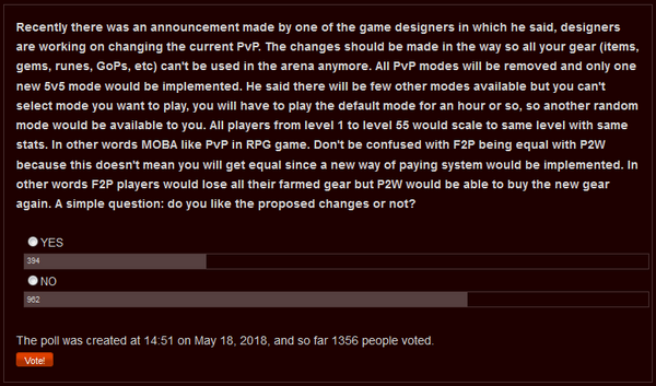 Gearless PvP Poll