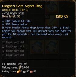 Dragan's Grim Signet Ring-0