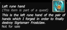 Left rune hands