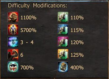 Infernal III Difficulty Modifications N