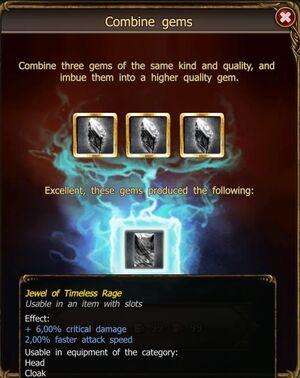 Jewel of Timeless Rage craft