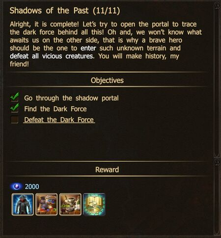 Shadows of the Past 11-11 Dark Force N