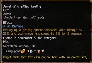 Jewel of Amplified Healing (Common)