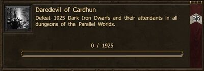 Achievement-Daredevil of Cardhun