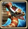 Armored Red Snake Icon