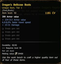 Dragan's Bellicose Boots T1 SM