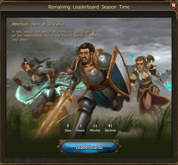 Leaderboards event screen