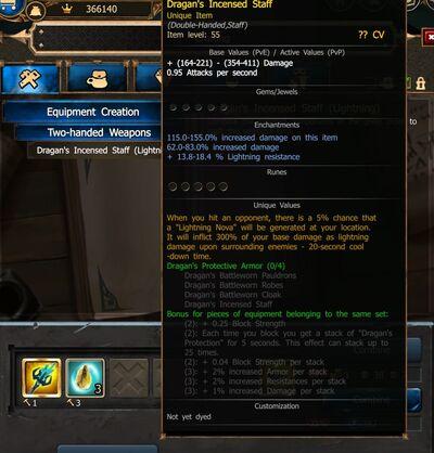 Dragan's Incencsed Staff - elemental craft RoD V