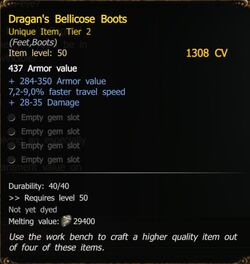 Dragan's Bellicose Boots T2 SM