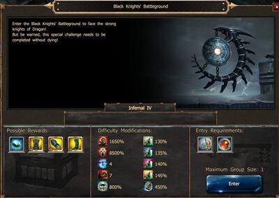 Black Knights' Battleground CoT V EW