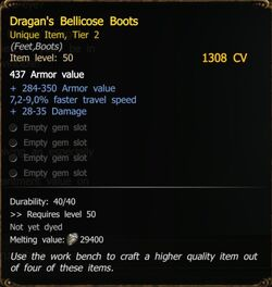 Dragan's Bellicose Boots T2 RA