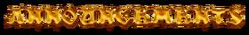 ANNOUNCEMENTS logo