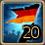 Festliche Flagge Deutschland