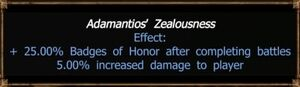 Adamantios' Zealousness