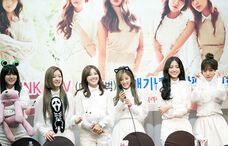 A Pink at a fansigning in Mokdong on 7 December 2014