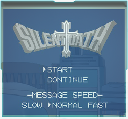 Silent Oath title screen
