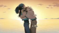 Aoba hugs ren