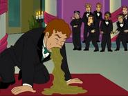 Bob throws up