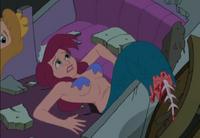Ariel dying in Spelling Applebee's