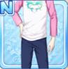Dolphin Heart Shirt Pink