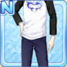Dolphin Heart Shirt Black