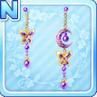 Moon Earrings Purple