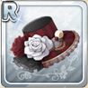 Silk Hat With Roses Red