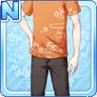 Stylish Sakura Shirt Orange