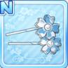 Sakura Hair Pins White