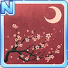 Cherry Blossoms & The Moon Red