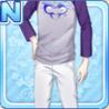 Dolphin Heart Shirt Purple