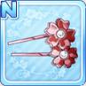 Sakura Hair Pins Red