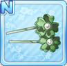 Sakura Hair Pins Green