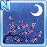 Cherry Blossoms & The Moon Blue