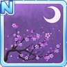 Cherry Blossoms & The Moon Purple