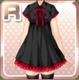 Long Ribbon Dress Black